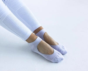 Slide on Non-Slip Grip Socks - Medium