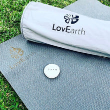 Load image into Gallery viewer, LovEarth Charcoal Yoga Mat with Bag