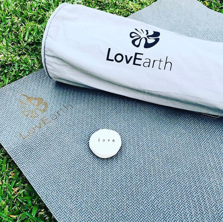 LovEarth Charcoal Yoga Mat with Bag