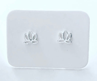 Stirling Silver Small Lotus Earings