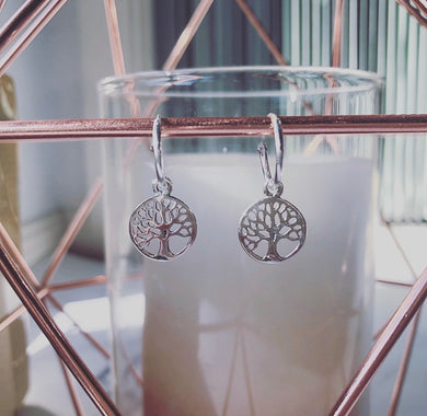 Stirling Silver Tree of Life Earings