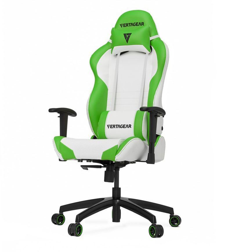Vertagear Racing Series SL2000 Chair — White/Green
