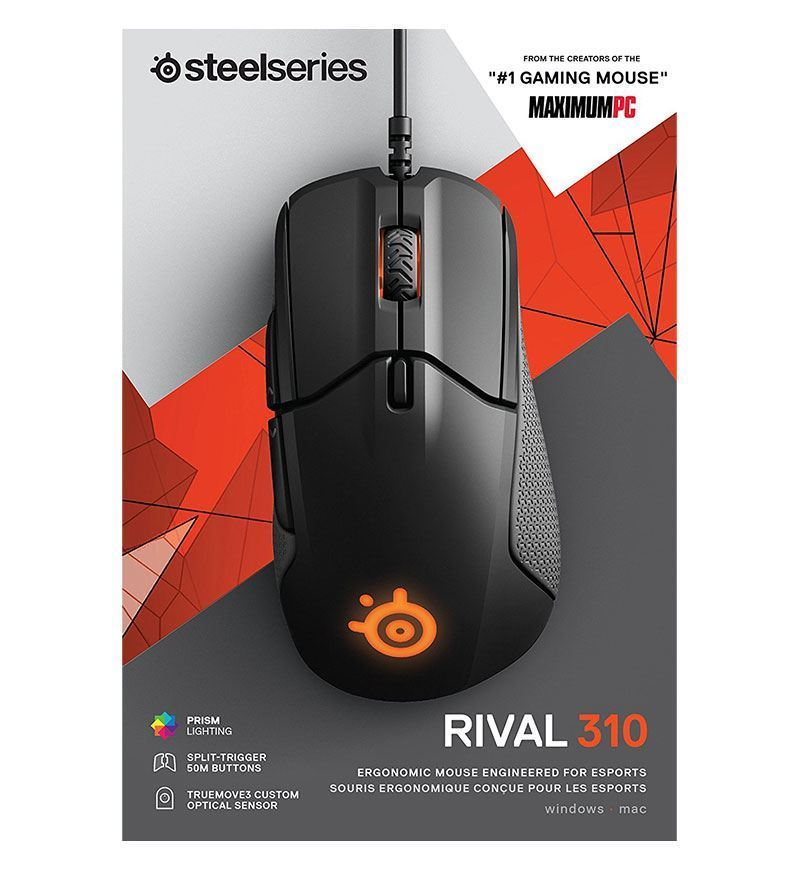 SteelSeries Rival 310 12,000 DPI Optical Mouse - Black