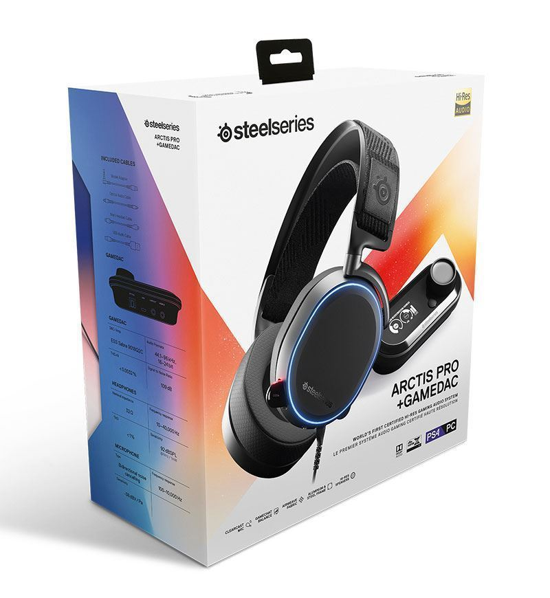 SteelSeries Arctis Pro DTS: X v2.0 Surround Headset + GameDAC — 3.5mm Jack