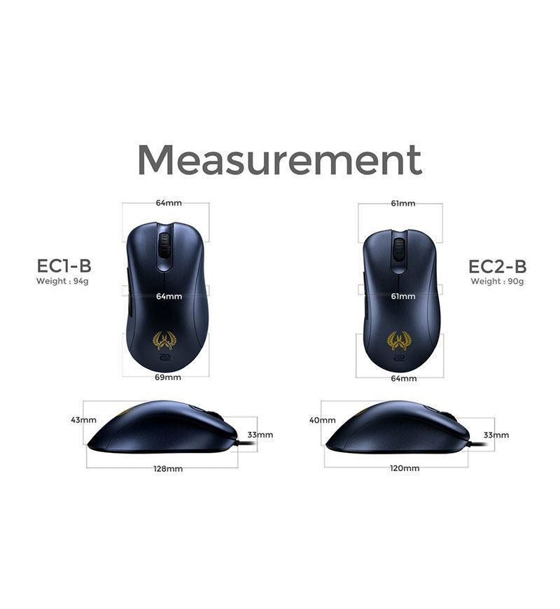 ZOWIE EC1-B 3,200 DPI Optical Mouse CS:GO Version