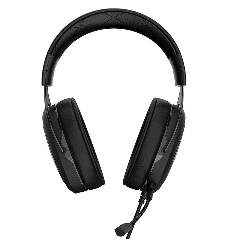 Corsair Gaming HS50 Stereo Headset — 3.5mm Jack — Carbon — PC/Console/Mobile