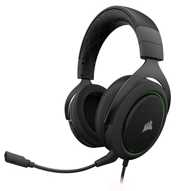 Corsair Gaming HS50 Stereo Headset — 3.5mm Jack — Green — PC/Console/Mobile