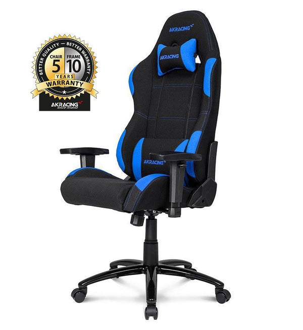 AKRacing Core Series EX Gaming Chair — Black/Blue