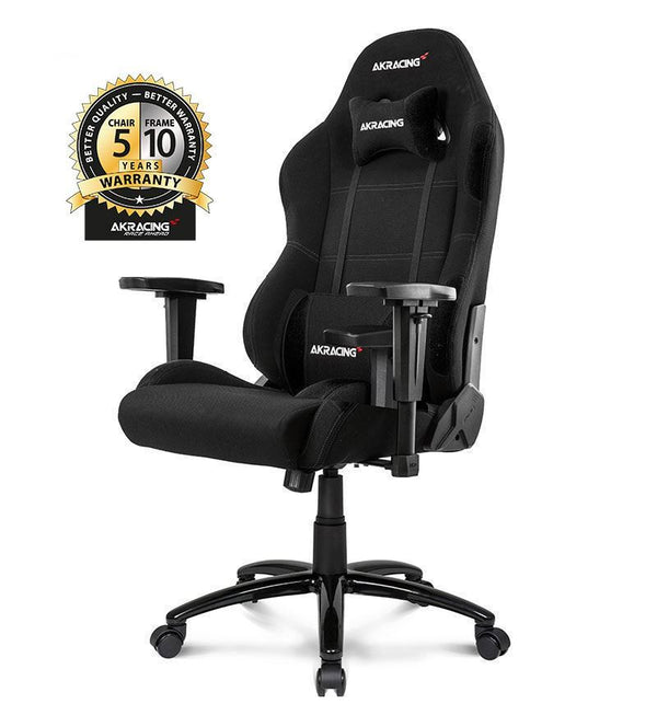 AKRacing Core Series EX Wide Fabric Gaming Chair — Black