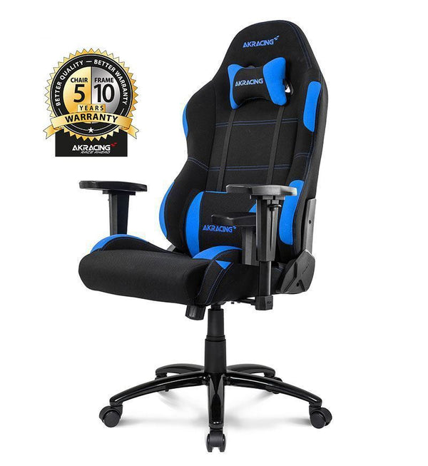 AKRacing Core Series EX Wide Gaming Chair — Black/Blue