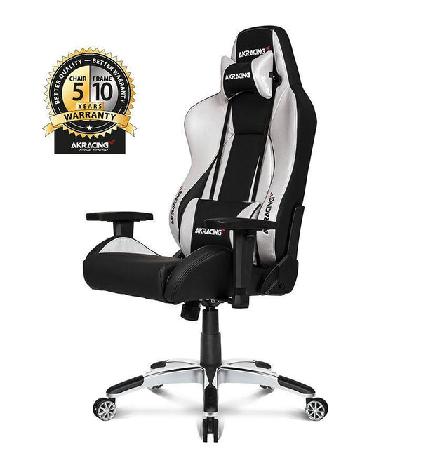 AKRacing Master Series Premium Gaming Chair — Silver