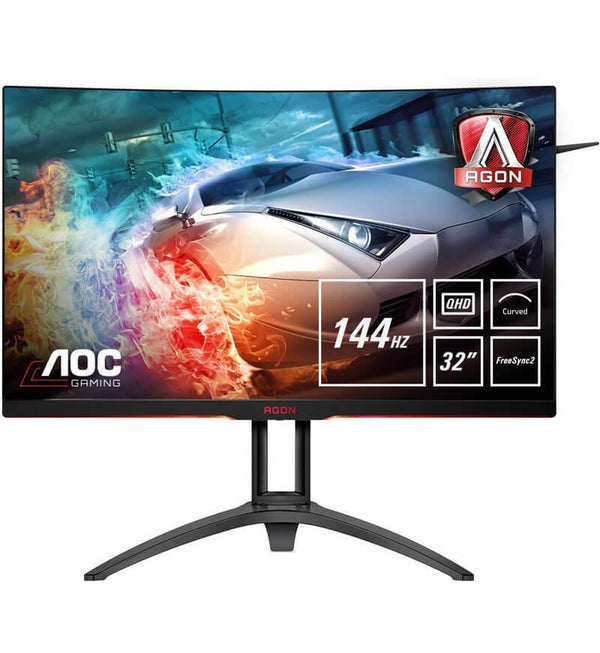 "AOC AGON AG322QC4 31.5"" 144Hz 4ms QHD Curved Monitor w/ FreeSync"