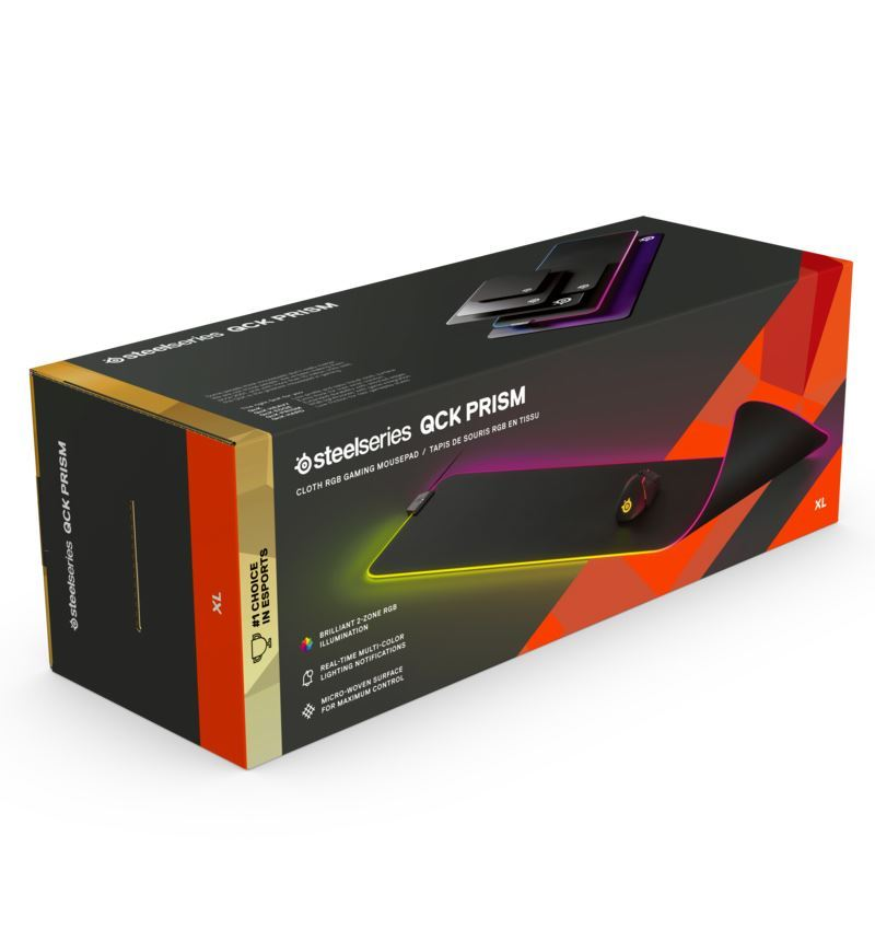 SteelSeries QcK Prism Cloth RGB Mouse Pad - XL