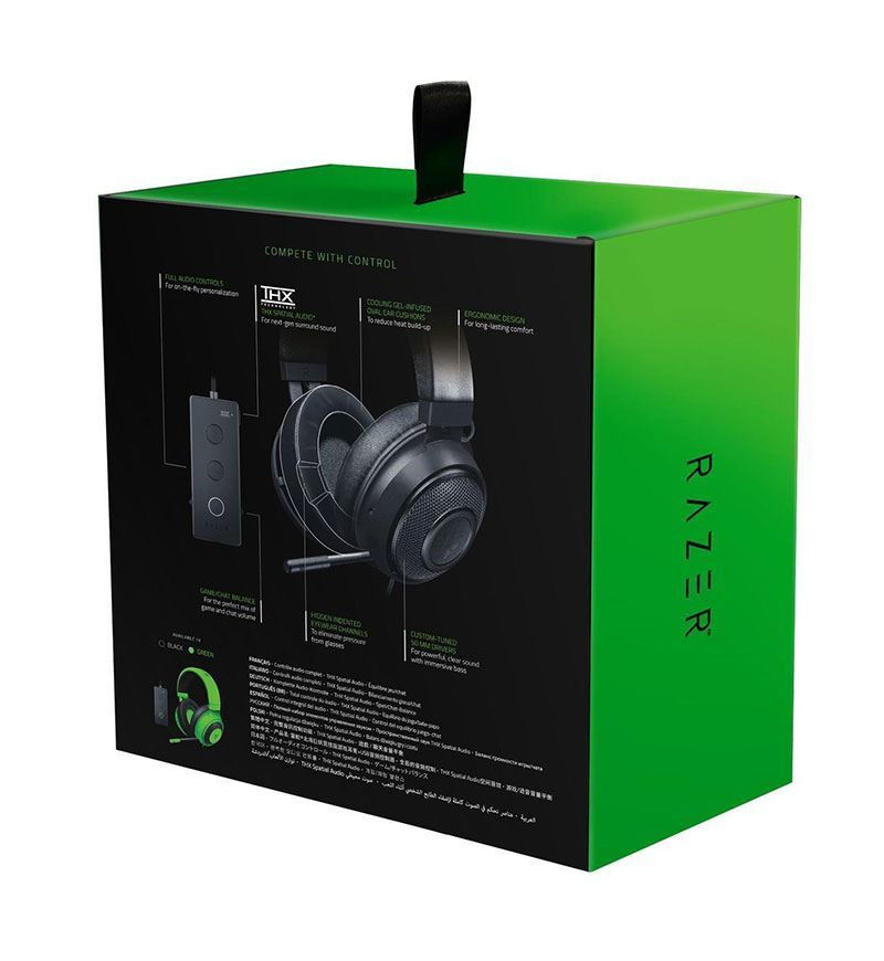 Razer Kraken Tournament Edition THX Spatial OVAL Headset — 3.5mm Jack — Black