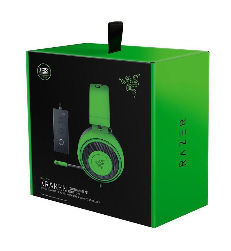 Razer Kraken Tournament Edition THX Spatial OVAL Headset — 3.5mm Jack — Green