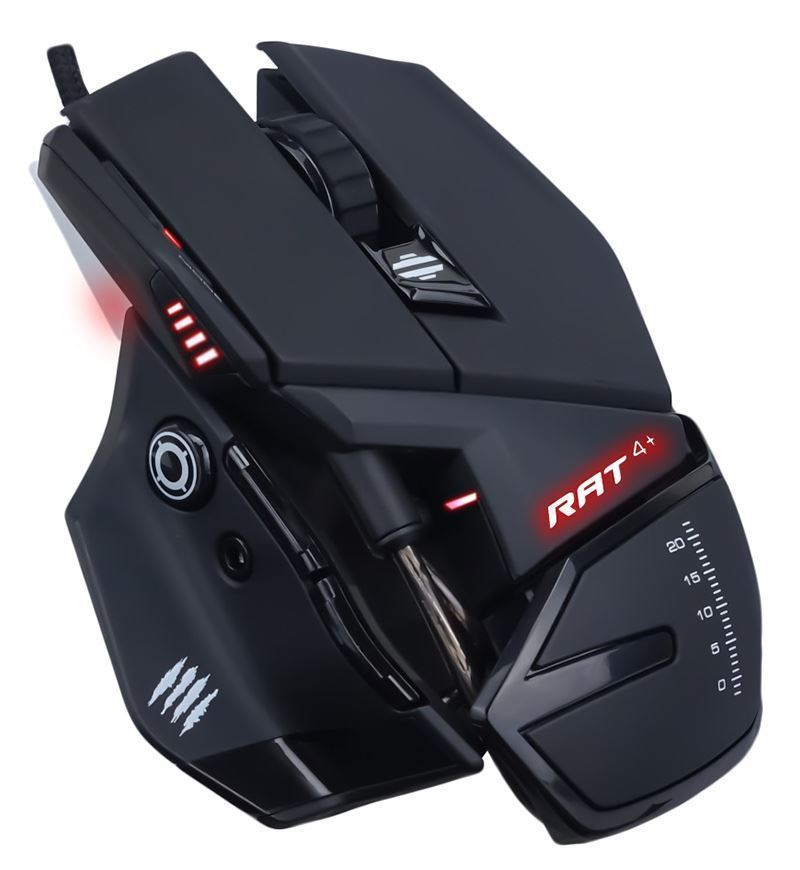 Mad Catz R.A.T. 4+ 7,200 DPI Optical Mouse — Black