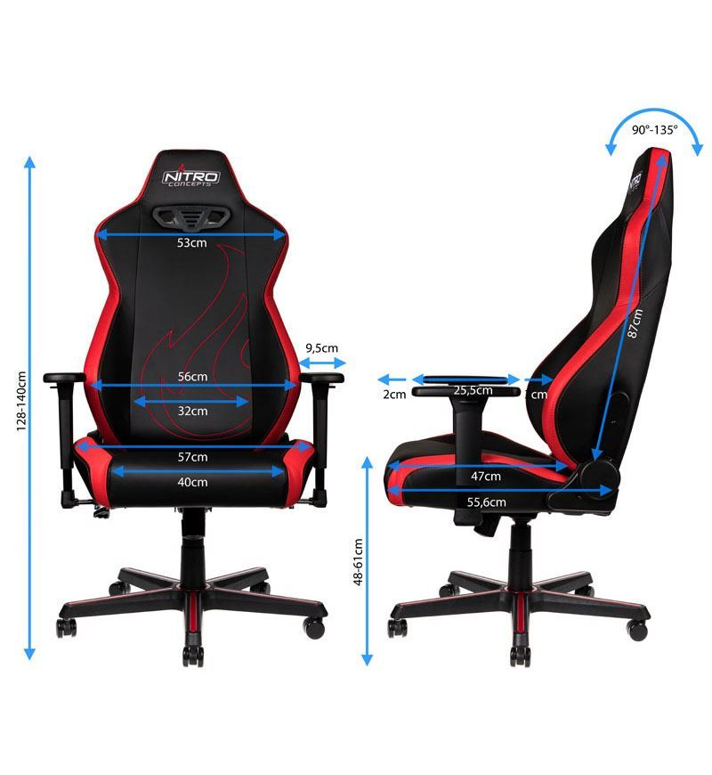 Nitro Concepts S300 EX Chair — Inferno Red