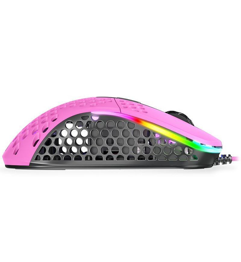 Xtrfy M4 RGB 69g Ultralight Right-Handed Gaming Mouse - Pink