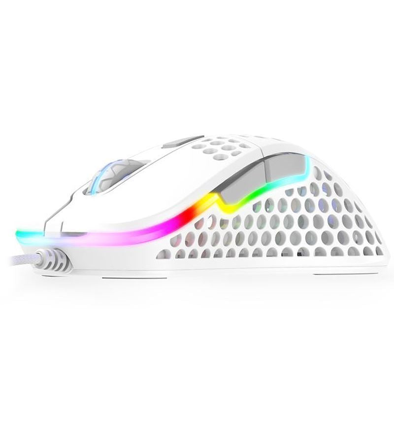 Xtrfy M4 RGB 69g Ultralight Right-Handed Gaming Mouse - White