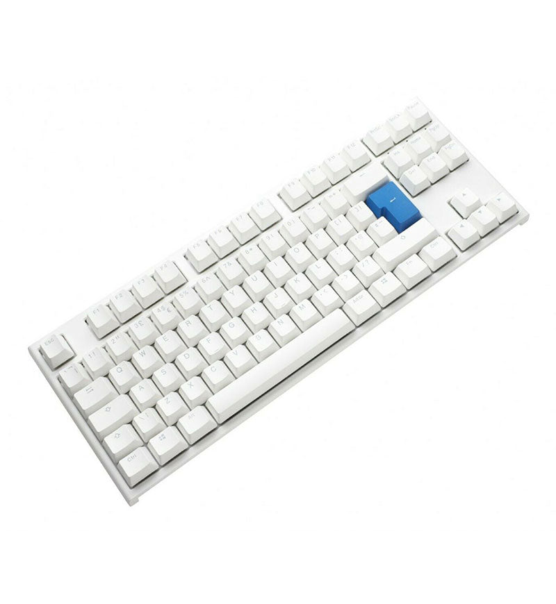 Ducky One 2 TKL Pure White RGB Mechanical Keyboard - Cherry MX Speed Silver Switches