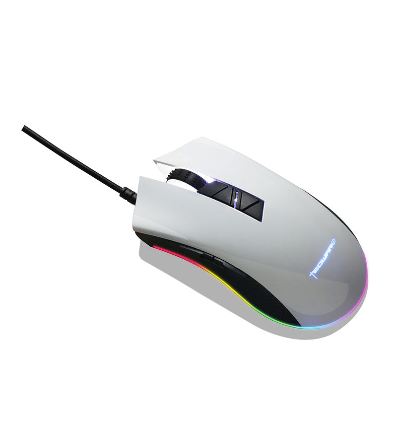 Tecware Torque+ RGB 97g Optical Mouse — Gloss White