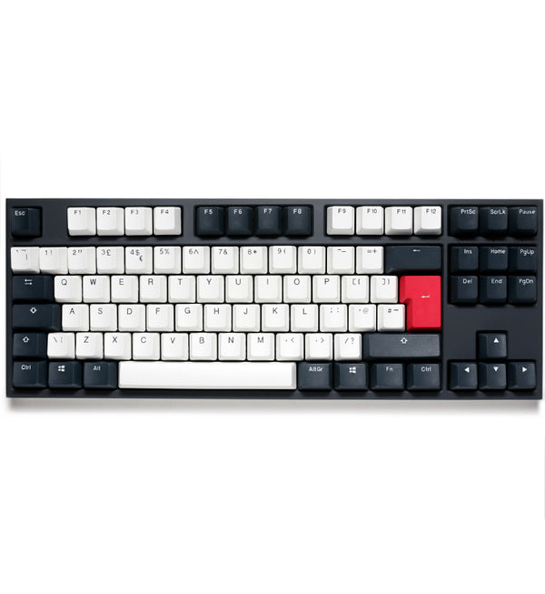 Ducky One 2 TKL Tuxedo Non-Backlit Mechanical Keyboard - Cherry MX Brown Switches
