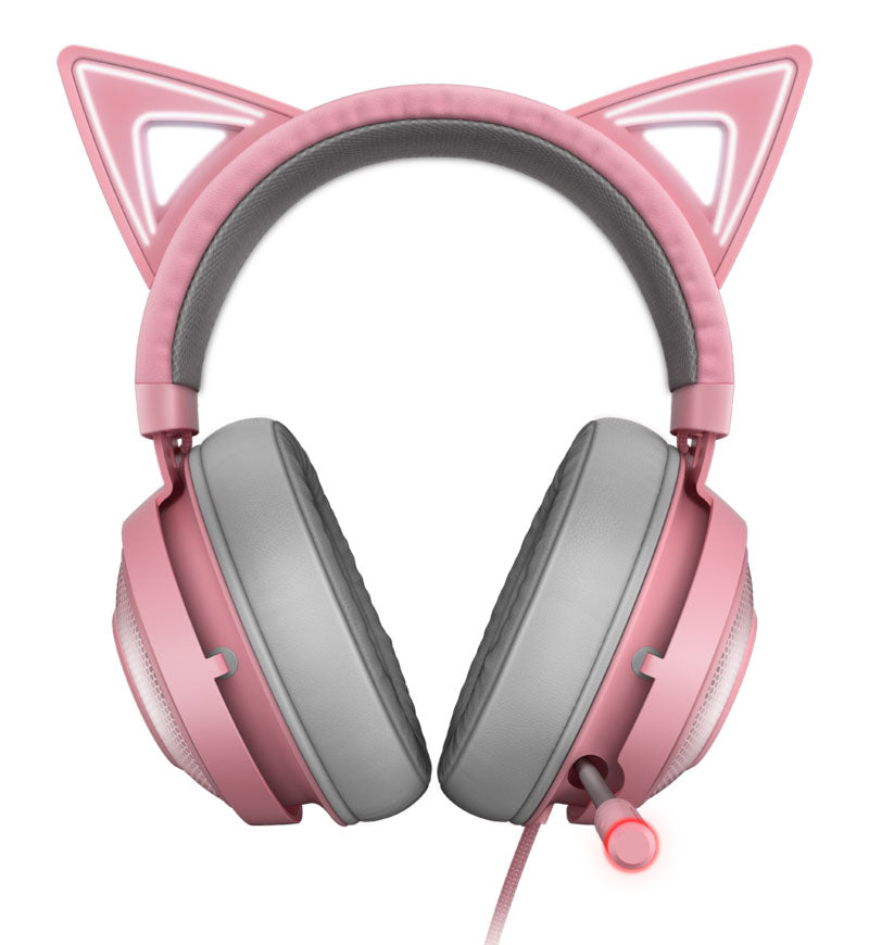 Razer Kraken Kitty Edition THX Spatial Headset — USB — Quartz