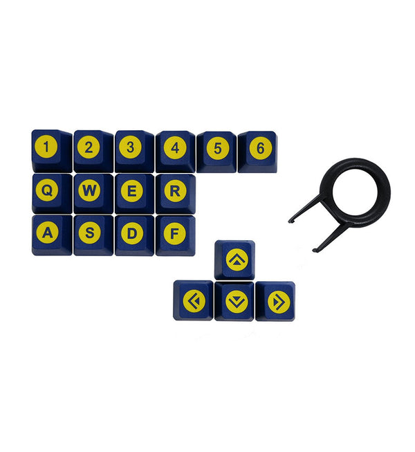 Tai-Hao ABS DoubleShot 18 Key Set - Blue/Yellow