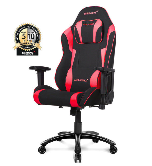 AKRacing Core Series EX Wide SE Fabric Gaming Chair — Black/Red