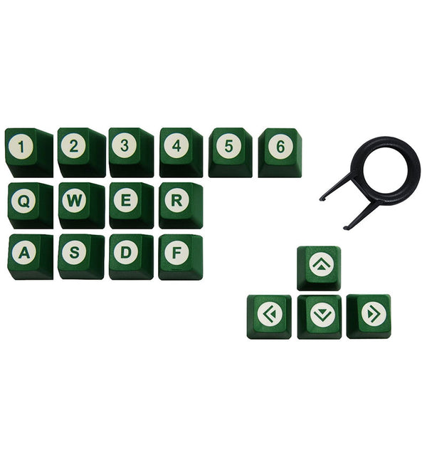 Tai-Hao ABS DoubleShot 18 Key Set - Green/White