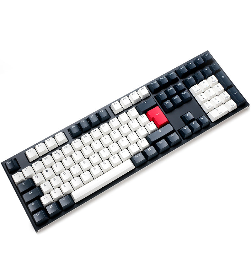 Ducky One 2 Tuxedo Non-Backlit Mechanical Keyboard - Cherry MX Blue Switches