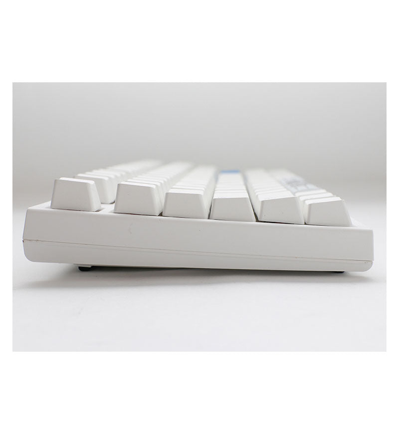 Ducky One 2 TKL Pure White RGB Mechanical Keyboard - Cherry MX Silent Red Switches