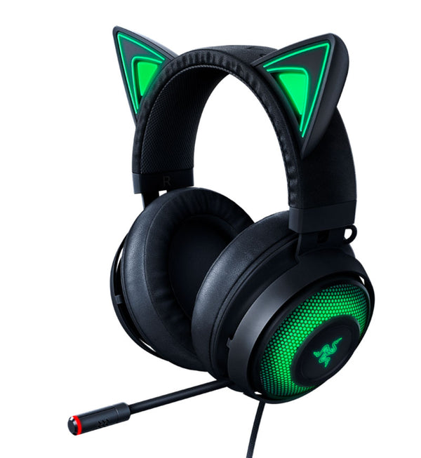 Razer Kraken Kitty Edition THX Spatial Headset — USB — Black