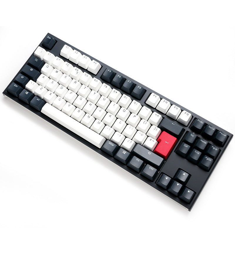 Ducky One 2 TKL Tuxedo Non-Backlit Mechanical Keyboard - Cherry MX Blue Switches