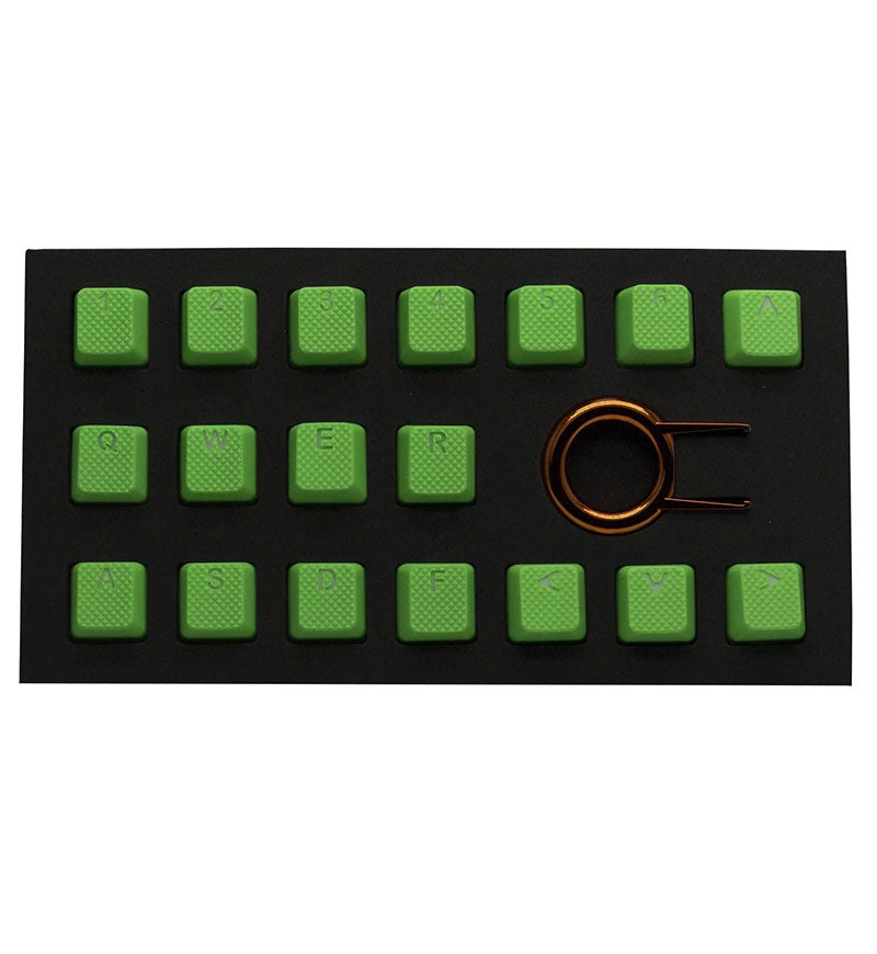 Tai-Hao TPR Rubber DoubleShot Backlit 18 Key Set - Neon Green