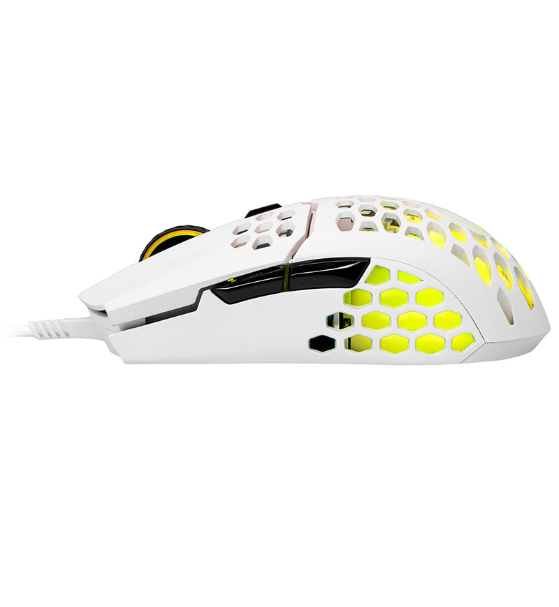 Cooler Master MM711 RGB 60g Ultralight Optical Mouse - Matte White