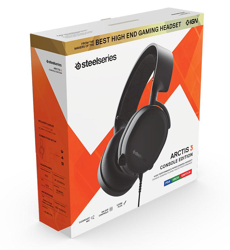 View 1 of SteelSeries Arctis 3 Bluetooth Stereo Headset Box