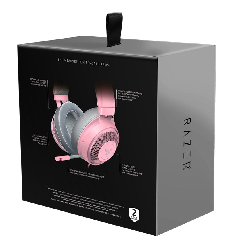 Razer Kraken Stereo Headset — 3.5mm Jack — Quartz — PC/Mac/Console/Mobile