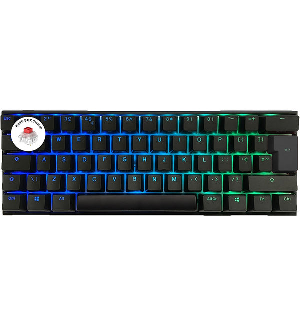 Ducky One2 Mini v2 RGB 60% Mechanical Keyboard - Kailh BOX Red Switches (Feels like Cherry MX Red)