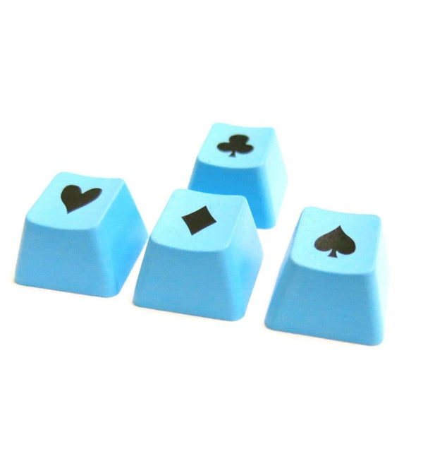 Tai-Hao ABS Double Shot Poker 4 Key Set - Blue/Black