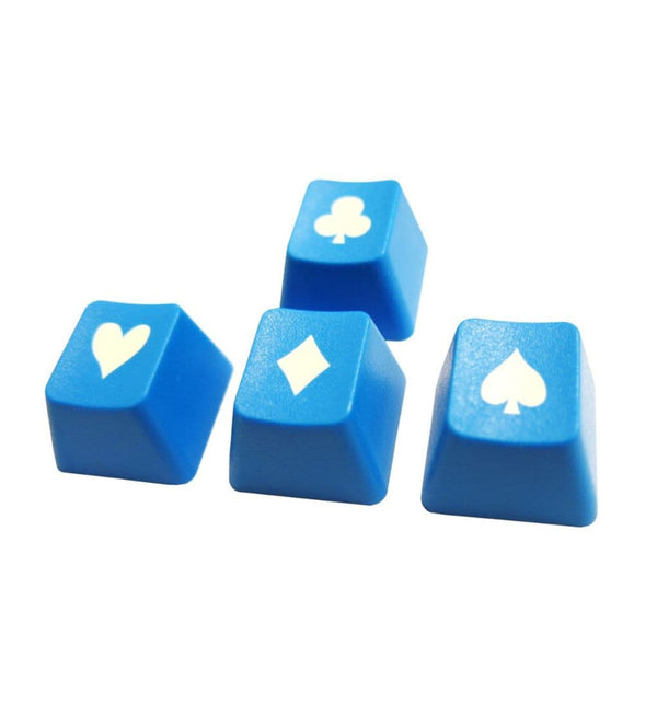 Tai-Hao ABS Double Shot Poker 4 Key Set - Blue/White
