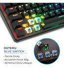 Tecware Phantom 88 TKL RGB Mechanical Keyboard - Outemu Blue Switches