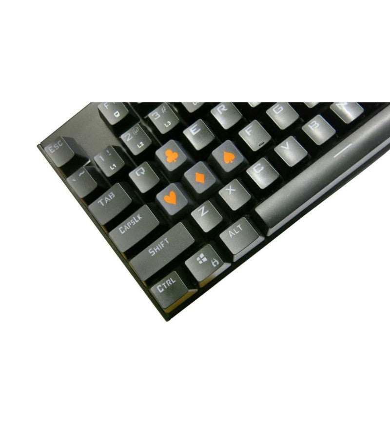 Tai-Hao ABS Double Shot Poker 4 Key Set - Graphite/Orange