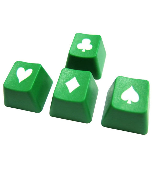 Tai-Hao ABS Double Shot Poker 4 Key Set - Green/White