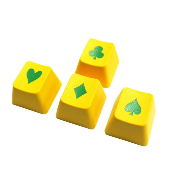 Tai-Hao ABS Double Shot Poker 4 Key Set - Green/Yellow