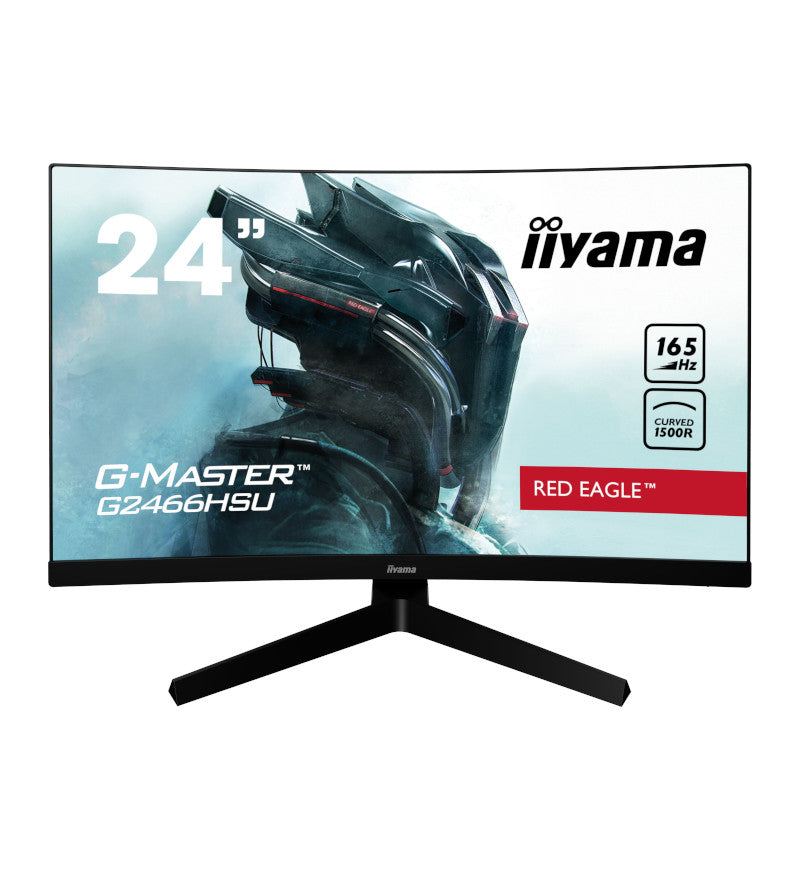 "Iiyama G-Master G2466HSU-B1 Curved 1500R 23.6"" VA LCD 165Hz 1ms Full HD Gaming Monitor"