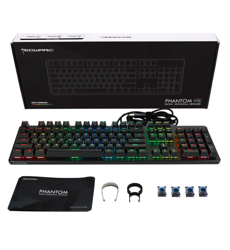 Tecware Phantom 105 RGB Mechanical Keyboard - Outemu Blue Switches