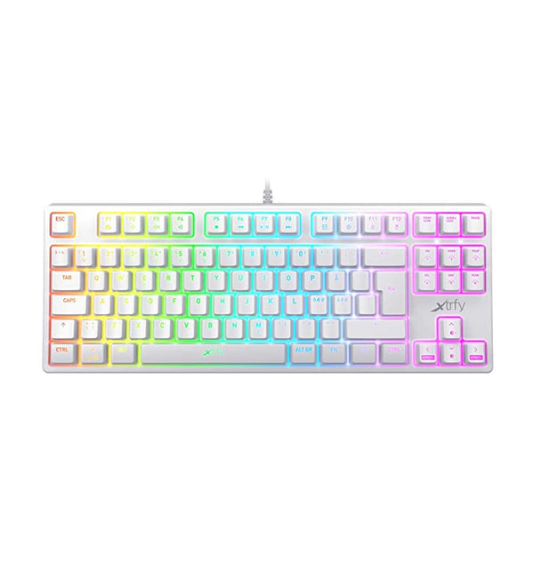 Xtrfy K4 RGB TKL White Mechanical Keyboard - Kailh Red Switches