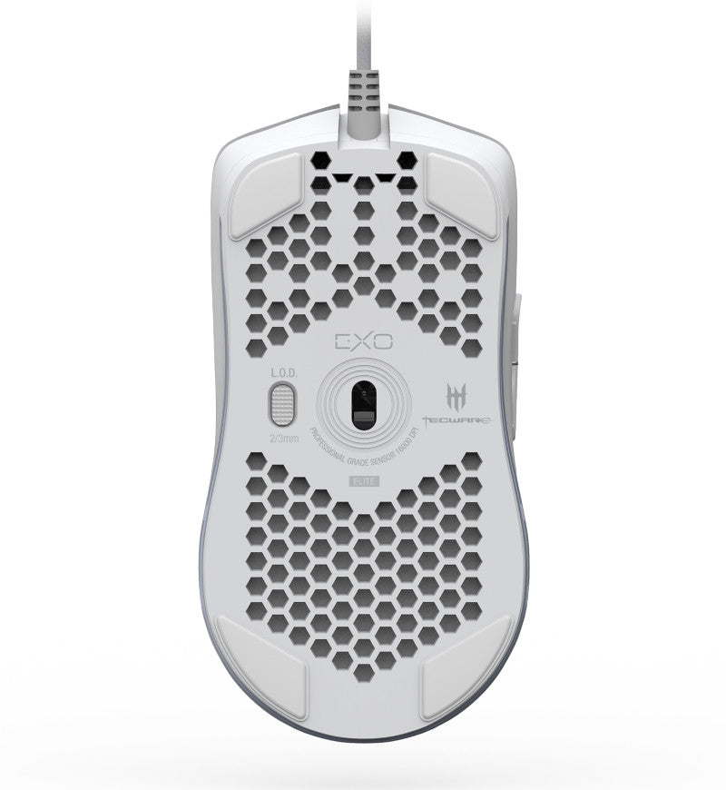 Tecware EXO Elite 69g Ultralight Gaming Mouse  - Matte White