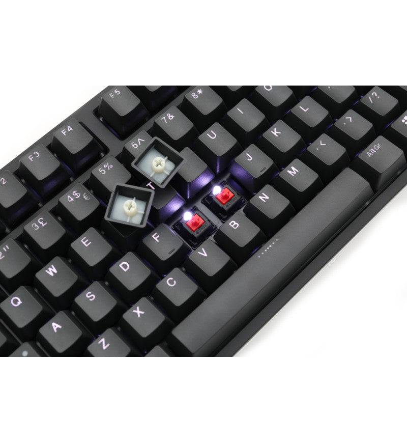 Ducky One 2 White Backlit Mechanical Keyboard - Cherry MX Red Switches